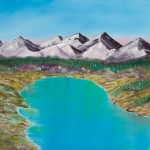 Alaskan Twin Lakes - [Oil on Linen: 91cm x 122 cm x 3.8 cm]