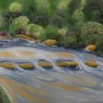 Bubbling Stream - Oil on Linen, 91cm x 122cm x 3.8cm