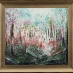 Bush Forest - [Oil on canvas board, painted with knife only, framed 61cm x 67 cm]