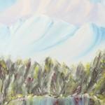 Cold Lake: Oil on Linen Board (38cm x 76cm)