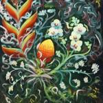 Dancing Blooms: Oil on Linen (60cm x 50cm)