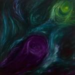 Dividing Light from Darkness 1 - Oil on Linen  101cm x 101cm x 3.8cm