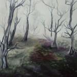 Early morning mist - SOLD [Oil on Linen, 91cm x 122cm x 3.8cm]