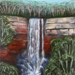 Fitzroy Falls 1 - Oil on Linen, 30cm x 70cm x 3.8cm