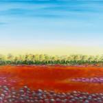 Hay Plain Sunrise 2 - Acyrlic on Linen, 102cm x 76cm x 3.8cm