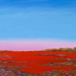 Hay Plain Sunset Northern Horizon - SOLD [Acrylic on Linen, 95cm x 70cm  Framed]