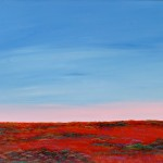 Hay Plain Sunset Southern Horizon - SOLD  [Acyrlic on Linen, 95cm x 70cm  Framed]