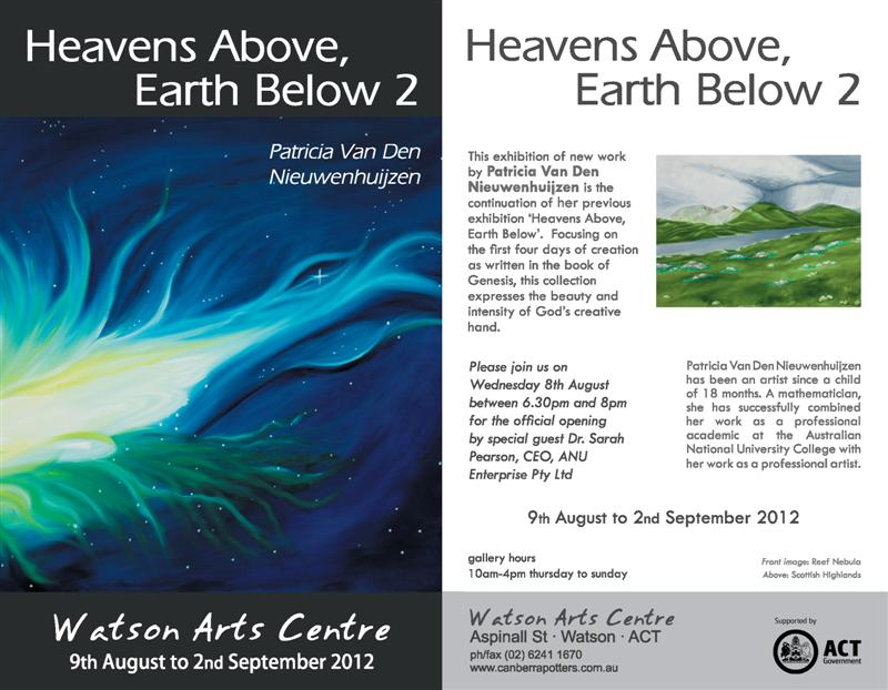 Heavens Above, the Earth below 2 e-flyer