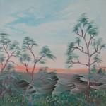 Lookout: Oil on Linen (91 x 91 cm)