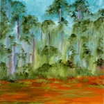 Namadgi NP - Oil on Canvas board (knife work), 35cm x  56cm