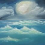 Night Sea: Oil on Linen (60cm x 50cm)
