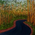 Road through the forest - Oil on Linen, 91cm x 122cm x 3.8cm