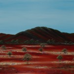 Road to Menindee Broken Hill - Oil on Canvas, 76cm x 101cm x 3.8cm