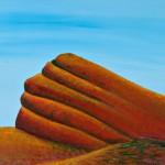 The Rock - Acyrlic on Linen, 95cm x 70cm Framed