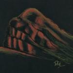 The Rock Red Ochre Pastel - 45cm x 55cm Framed