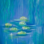 Water garden 1 - SOLD [Oil on canvas board: 30cm x 40.6cm]