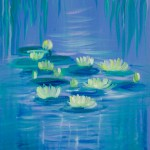 Water garden 2 - [Oil on canvas board: 30cm x 40.6cm]