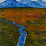 Western Arthur Range Tasmania - SOLD [Oil on Linen, 76cm x 51cm x 3.8cm]