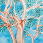 Young Tree - Oil on Linen, 101cm x 101cm x 3.8cm