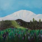 Mountain Glacier: Oil on Linen (91 x 91cm)